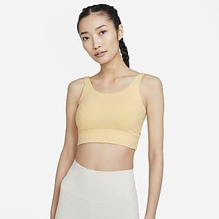 Nike Yoga Luxe เสื้อกล้ามเอวลอยผ้า Jacquard ผู้หญิง