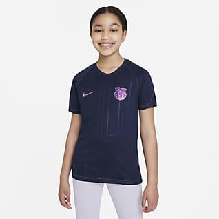 FC Barcelona Away Older Kids' Nike Dri-FIT Pre-Match Football Top