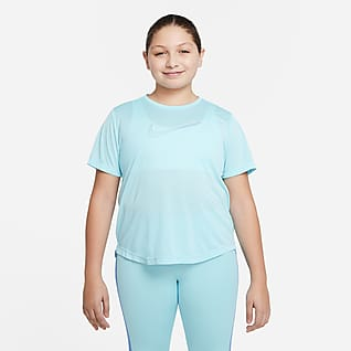 Nike Dri-FIT One Playera de entrenamiento de manga corta para niña talla grande (talla extendida)