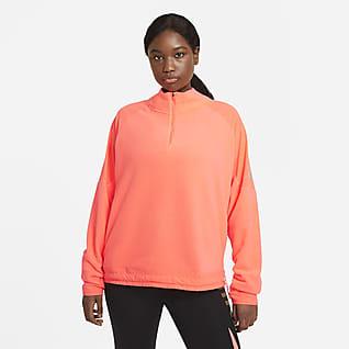 Nike Air Midlayer Γυναικεία μπλούζα για τρέξιμο (μεγάλα μεγέθη)