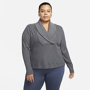 Nike Yoga Luxe Salida de baño de tela rib para mujer (talla grande)