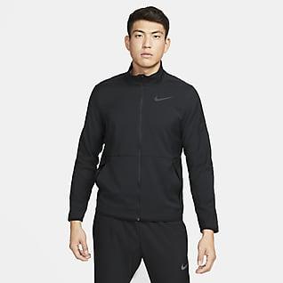 Nike Dri-FIT เสื้อแจ็คเก็ตเทรนนิ่งผู้ชายแบบทอ