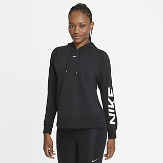Nike Dri-FIT Get Fit Treningshettegenser med grafikk til dame