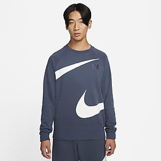Nike Sportswear Swoosh เสื้อคอกลมผ้าเฟรนช์เทรีผู้ชาย