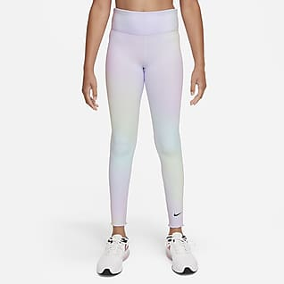 Nike Dri-FIT One Mallas de entrenamiento con estampado para niña talla grande