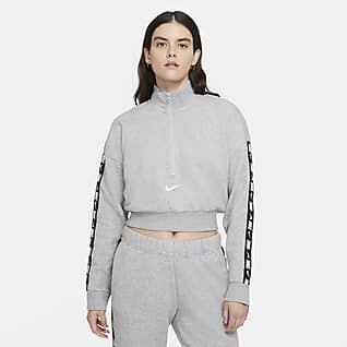 Nike Sportswear Essential Top corto de tejido Fleece para mujer
