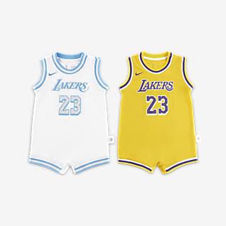 洛杉矶湖人队 Nike NBA 婴童连体衣(2 件)
