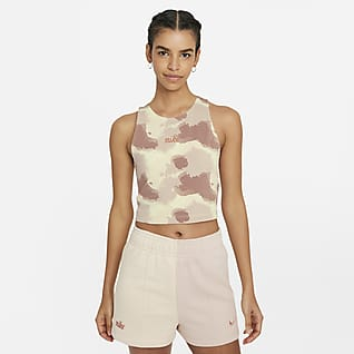 Nike Sportswear Camisola sem mangas recortada e estampada para mulher