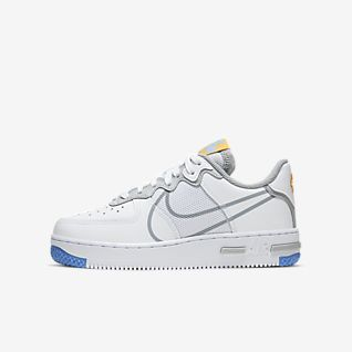 Kids Air Force 1 Low Top Shoes. Nike PT