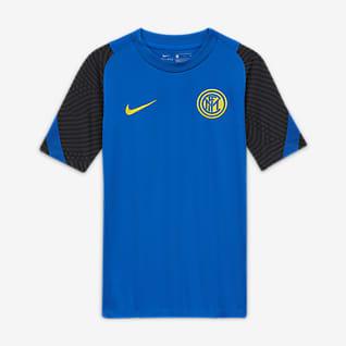 Inter Milan Strike Older Kids' Short-Sleeve Football Top