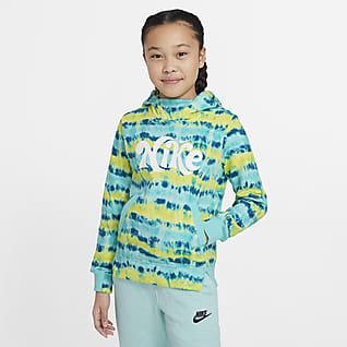 Nike Sportswear Big Kids' (Girls') Tie-Dye Pullover Hoodie