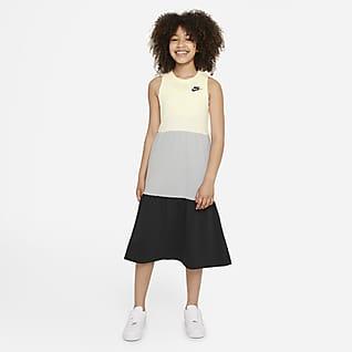 Nike Sportswear Šaty zfrancouzského froté pro větší děti (dívky)
