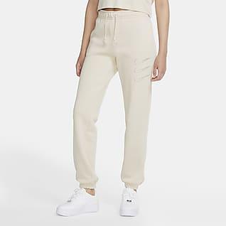 Nike Sportswear Rhinestone Pantalones de tejido Fleece para mujer
