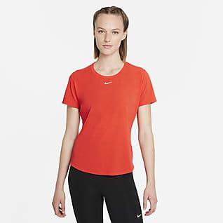 Nike Dri-FIT Indy Luxe Part superior de màniga curta amb ajust estàndard - Dona
