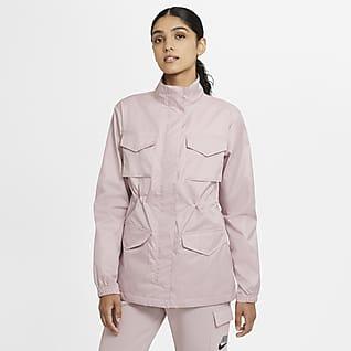 Nike Sportswear M65 vevd jakke til dame