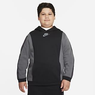 Nike Sportswear Amplify Sudadera con capucha sin cierre para niños talla grande (talla extendida)