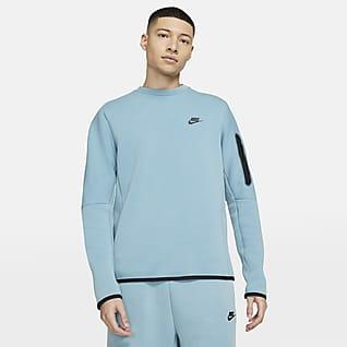 Nike Sportswear Tech Fleece Kerek nyakkivágású, koptatott férfifelső