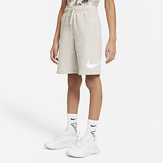 Nike Sportswear Swoosh Kraťasy z francouzského froté pro větší děti (chlapce)