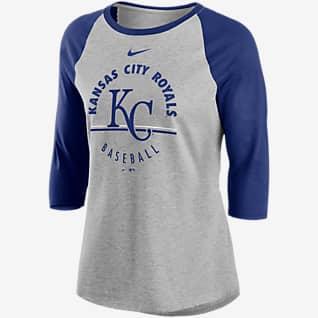 Nike Encircled (MLB Kansas City Royals) Women's 3/4-Sleeve T-Shirt