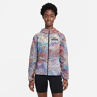 Nike Windrunner Chamarra de carrera en sendero plegable para mujer