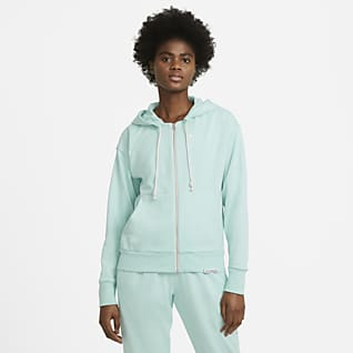 Nike Swoosh Fly Standard Issue Sudadera con capucha de básquetbol con cierre completo para mujer
