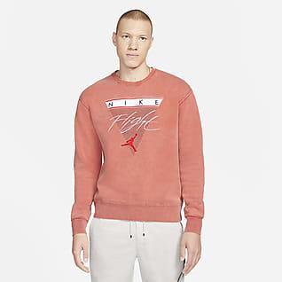 Jordan Flight Fleece Fleecesweatshirt med rund hals til herre