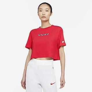 U.S. Playera de fútbol cropped para mujer