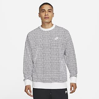 Nike Sportswear Club เสื้อคอกลมแบบสวมผ้าเฟรนช์เทรีผู้ชาย