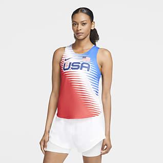 Nike Dri-FIT ADV Team USA AeroSwift Damska koszulka bez rękawów do biegania