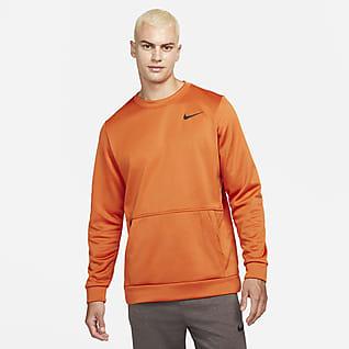 Nike Therma Træningscrewtrøje til mænd