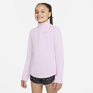 Nike Dri-FIT Top de running de manga larga para niñas talla grande