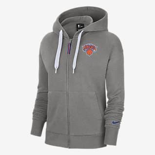 New York Knicks Essential Sudadera con capucha Nike NBA de cierre completo para mujer