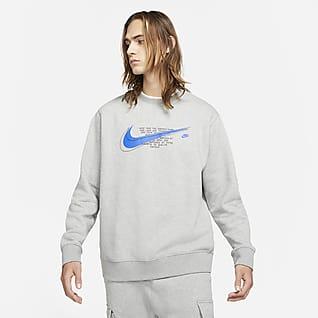 Nike Sportswear Court Pánská flísová mikina skulatým výstřihem