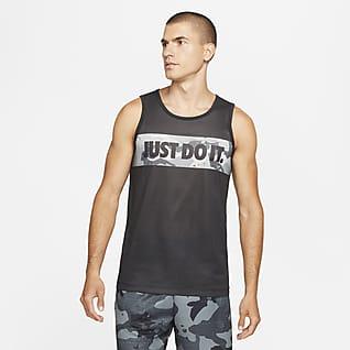 Nike Dri-FIT Kamuflaj Desenli Grafikli Erkek Antrenman Tişörtü