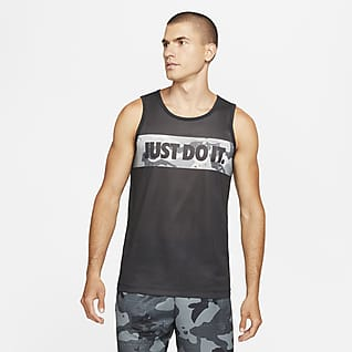 Nike Dri-FIT Trainingsshirt met camouflageprint en graphic voor heren