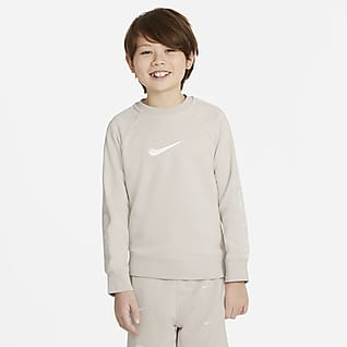 Nike Sportswear Swoosh Kerek nyakkivágású pulóver nagyobb gyerekeknek (fiúk)
