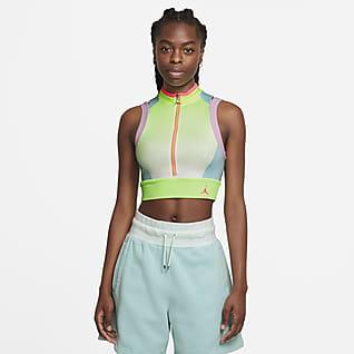 Jordan Heatwave เสื้อเอวลอยผู้หญิงพิมพ์ลาย