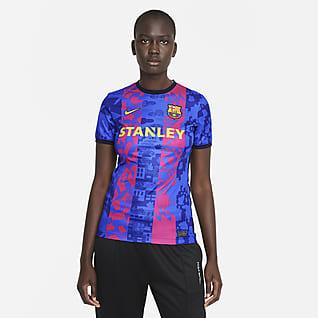 F.C. Barcelona 2021/22 Stadium - Terza Maglia da calcio Nike Dri-FIT - Donna