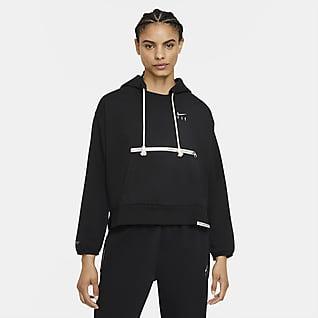 Nike Dri-FIT Swoosh Fly Standard Issue Basketball-pullover-hættetrøje til kvinder
