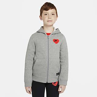 Liverpool FC Sudadera con capucha de cierre completo para niños talla grande
