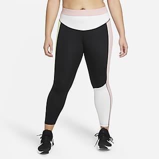 Nike One Women's Mid-RIse 7/8 Color-Block Leggings (Plus Size)