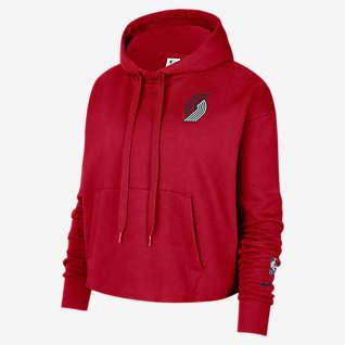 Portland Trail Blazers Women's Nike NBA Fleece Pullover Hoodie