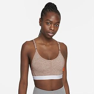 Nike Dri-FIT Indy Women's Light-Support Padded Soft Tee Sports Bra