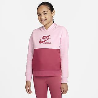 Nike Sportswear Heritage Sudadera con gorro de French Terry para niña talla grande