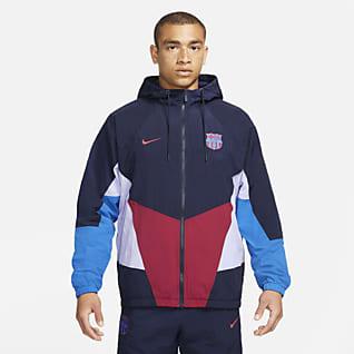 FC Barcelona Windrunner Мужская футбольная куртка с капюшоном