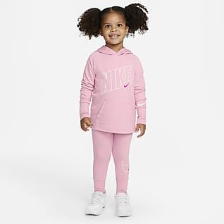 Nike Dri-FIT Conjunto de pantalones y sudadera con gorro para niños talla pequeña