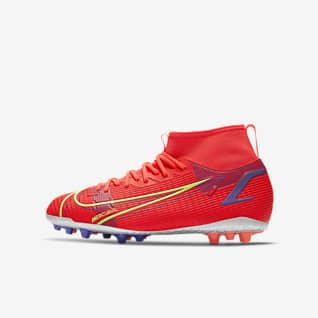 Nike Jr. Mercurial Superfly 8 Academy AG Botas de fútbol para césped artificial - Niño/a y niño/a pequeño/a