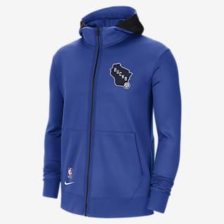 Milwaukee Bucks Showtime City Edition Felpa con cappuccio Nike Therma Flex NBA - Uomo