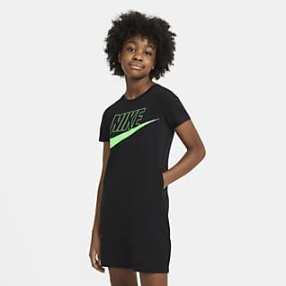 Nike Sportswear T-shirt-kjole til store børn (piger)