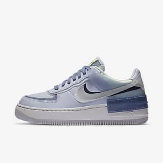 air force 1 ragazza bianche e blu
